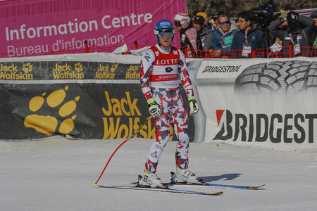 olympics: Baumann Romed of AUT action during an AUDI FIS Ski World Cup Mens Downhill Final Race, Also a test event for the Pyeongchang 2018 Winter Olympics, at the Jeongseon Alpine Centre in Jeongseon, South Korea. Editorial
