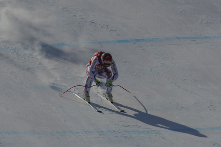 olympics: Fayed Guillermo of FRA action during an AUDI FIS Ski World Cup Mens Downhill Final Race, Also a test event for the Pyeongchang 2018 Winter Olympics, at the Jeongseon Alpine Centre in Jeongseon, South Korea.
