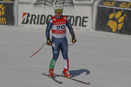 downhill: Fill Peter of ITA action during an AUDI FIS Ski World Cup Mens Downhill Final Race, Also a test event for the Pyeongchang 2018 Winter Olympics, at the Jeongseon Alpine Centre in Jeongseon, South Korea.