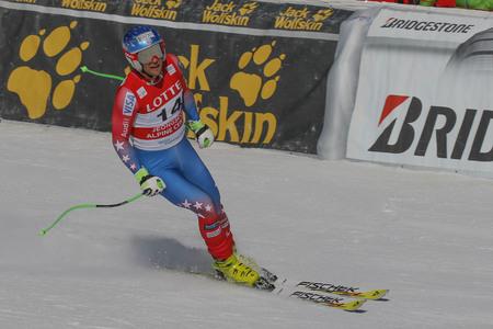deportes olimpicos: Nyman Steven acción de EE.UU. durante una carrera de final de Audi FIS del mundo de esquí de los hombres de la Copa de descenso, también un evento de prueba para los Juegos Olímpicos de Invierno de 2018 en Pyeongchang, en el centro alpino en Jeongseon Jeongseon, Corea del Sur.