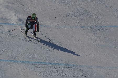fis: Paris Dominik of ITA action during an AUDI FIS Ski World Cup Mens Downhill Final Race, Also a test event for the Pyeongchang 2018 Winter Olympics, at the Jeongseon Alpine Centre in Jeongseon, South Korea. Editorial
