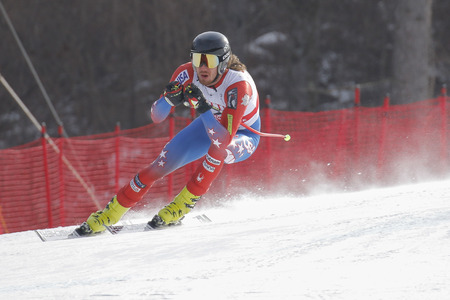 bennett: Bennett Bryce of USA action during an AUDI FIS Ski World Cup 20152016 Jeongseon Mens Downhill exercise second day at Jeongseon Alpine Center in Gangwon, South Korea.