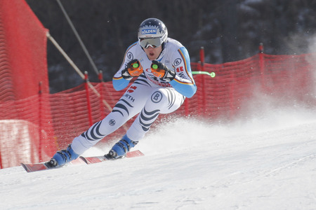 fis: Dressen Thomas of GER action during an AUDI FIS Ski World Cup 20152016 Jeongseon Mens Downhill exercise second day at Jeongseon Alpine Center in Gangwon, South Korea.