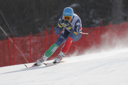 fis: Innerhofer Christof of ITA action during an AUDI FIS Ski World Cup 20152016 Jeongseon Mens Downhill exercise second day at Jeongseon Alpine Center in Gangwon, South Korea.