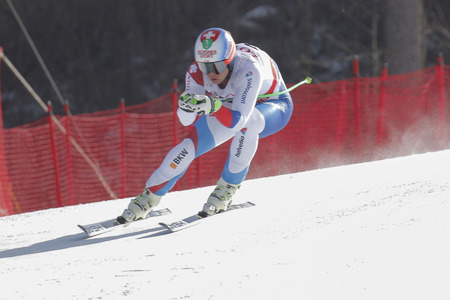 weber: Weber Ralph of SUI action during an AUDI FIS Ski World Cup 20152016 Jeongseon Mens Downhill exercise second day at Jeongseon Alpine Center in Gangwon, South Korea.
