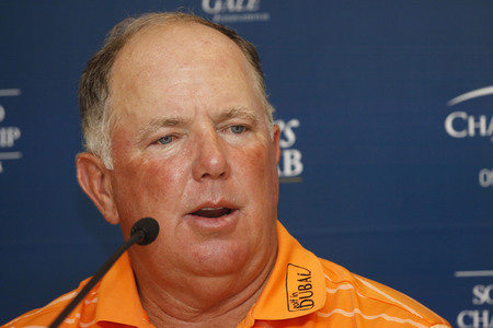 Mark Omera attend press conference during the PGA Tour Songdo IBD Championship in Incheon, west of Seoul, on Sep 5, 2011, South Korea. The Songdo IBD Championship is a golf tournament on the Champions Tour. It was played for the first time as the Posco E Editorial