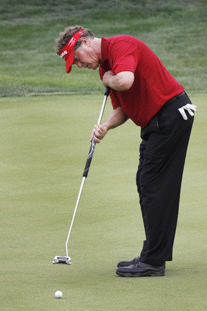 Michael Allen of USA, 8th hall putt during the PGA Tour Songdo IBD championship second round at Jack Nicklaus golf club in Incheon, west of Seoul, on Sep 17, 2011, South Korea.