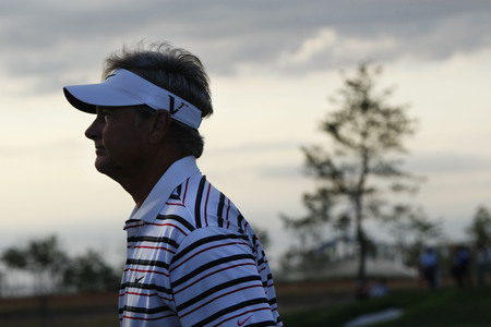 pga: John Cook of USA, plays of 18th hall during the PGA Tour Songdo IBD championship final round overtime at Jack Nicklaus golf club in Incheon on Sep 18, 2011. Editorial