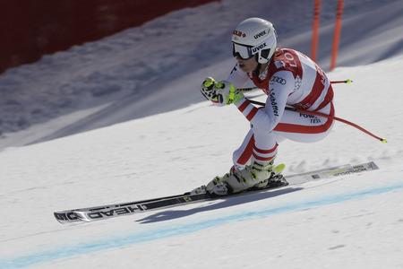 SCHEYER Christine van Oostenrijk actie tijdens een AUDI FIS SKI WK 201617 Jeongseon in Pyeong Chang, Zuid-Korea. Redactioneel