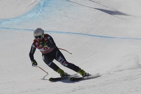 STUFFER Verena van Italië actie tijdens een AUDI FIS-Wereldkampioenschap 2016/17 Jeongseon in Pyeong Chang, Zuid-Korea. Stockfoto - 78213558