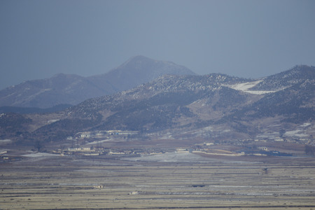 thursday: North Koreas town Haechangpo is viewed from the peace post in Ganghwa, North Korea, South Korea. North Korea denied Thursday that its agents masterminded the assassination of the half brother of leader Kim Jong-in, saying a Malaysian investigation into t
