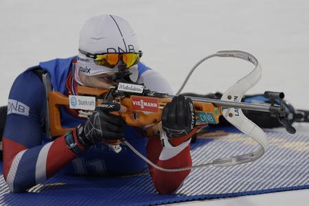 CHRISTIANSEN Vetle Sjastad of Norway actie tijdens een IBU Biathlon World Cup Mannen 10 km sprint op ALPENSIA BIATHLON CENTRE in Pyeong Chang, Zuid-Korea.