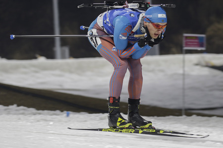 TSVETKOV Maxim of Russia action during an IBU Biathlon World Cup Men 10Km Sprint at ALPENSIA BIATHLON CENTER in Pyeong Chang, South Korea.