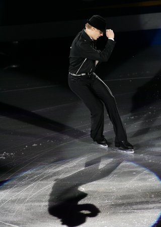 Czechoslovakias Thomas Verner performs on the ice during the ISA Grand Prix of Skating Final Exhibition 20082009 in Goyang near Seoul on December 14, 2008.