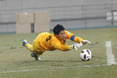 March 14, 2012 - South Korea, Seoul : Lee Beom-young of South Korea catching the ball during their Asia qualifying for the 2012 London Olympic in Sangam stadium. The match ended in 0-0. Editorial