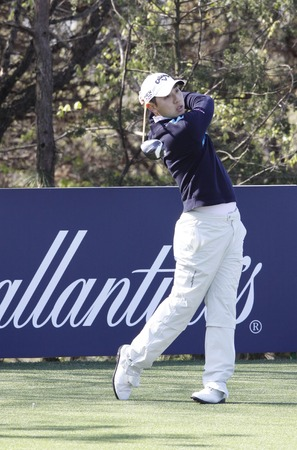 26: April 26, 2012-South Korea, Icheon: Bae Sang-moon of Korea in action during the first round of Ballantines Championship at Blackstone Golf Club.