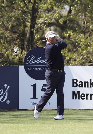 April 26, 2012-South Korea, Icheon: Darren Clarke of Nothern Ireland in action during the first round of the Ballantines Championship at Blackstone Golf Club.