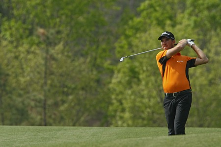 April 28, 2012-South Korea, Icheon: Oscar Floren of Sweden in action during the third round of the Blackstone Golf Club at Ballantines Championship.