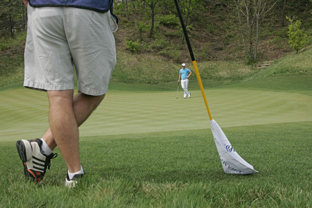 April 29, 2012-South Korea, Icheon : Bernd Wiesberger of Austria in green during the fourth round of the Ballantines Championship at Blackstone Golf Club. Editorial