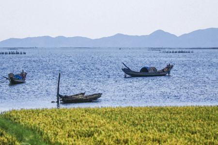 Oil painting of daylight fishing village near  sea shore scene in Timor. Stock Photo