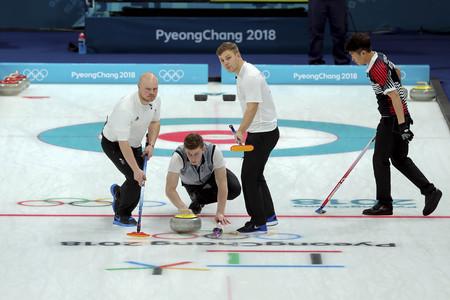 Olympic Curling Mans Round Robin Session KOR v GBR