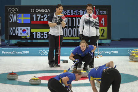 Olympic Curling Women's Final Match Stockfoto - 105367011