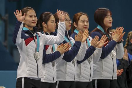 Olympic Curling Women's Final Match Stockfoto - 105367014