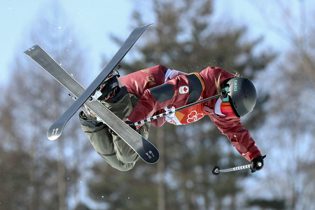 Olympic Freestyle Skiing Ladies Ski Halfpipe Final Run Redactioneel