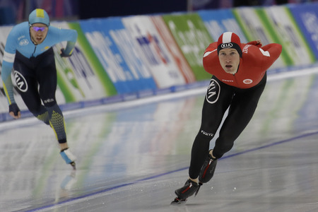 Viktor Hald Thorup of Denmark action during the ISU WORLD SINGLE DISTANCES  CHAMPIONSHIPS 2017 Men 5000 Race at Gangneung Oval, Gangneung, South Korea.