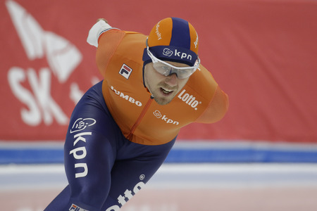 Douwe DE VRIES of Netherlands action during the ISU WORLD SINGLE DISTANCES  CHAMPIONSHIPS 2017 Men 5000 Race at Gangneung Oval, Gangneung, South Korea.
