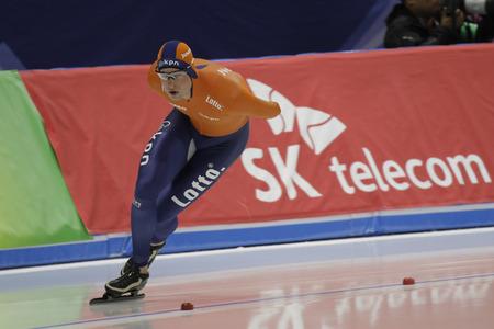 Sven KRAMER of Netherlands action during the ISU WORLD SINGLE DISTANCES  CHAMPIONSHIPS 2017 Men 5000 Race at Gangneung Oval, Gangneung, South Korea.