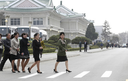 April 2, 2018-Pyeongyang, North Korea-General view of Pyeongyang Changjeon district scene in Pyeongyang, North Korea. North Korean leader Kim Jong-un has expressed hope that South Korean musicians performances in Pyongyang could serve as an occasion to s