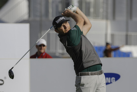 Branden Grace of the Republic of South Africa on the 10th tee during an PGA TOUR The CJ CUP NINE BRIDGE at Nine Bridge in Jeju, South Korea.