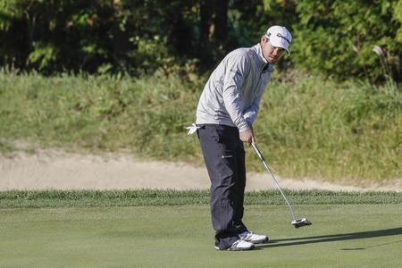 Brian Harman of USA putt on the 2th hole during an PGA TOUR CJ CUP NINE BRIDGE DAY 4 at Nine Bridge CC in Jeju Island, South Korea. Editorial