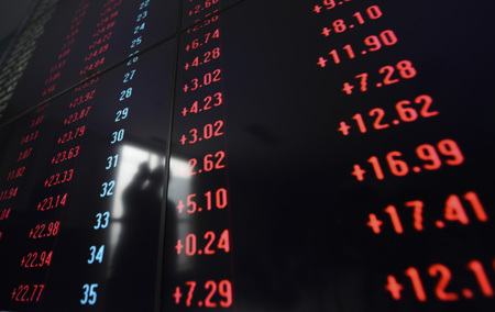 Shows an electronic stock indicator of a securities firm in Shenyang, capital of northeast Chinas Liaoning Province. Chinas stocks closed higher on Monday, with the benchmark Shanghai Composite Index up 2.35 percent, to close at 2,927.18 points. The sma
