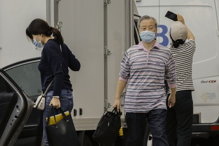 Sep 10, 2018-Seoul, South Korea-Visitors weared mask by passing ER at the National University Hospital in Seoul, South Korea.