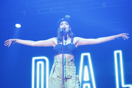 British Singer Dua Lipa performs on the stage during an Pentaport Rock Festival 2017 in Incheon, South Korea. Editorial