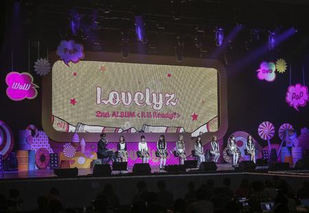 South Korean Girl group Lovelyz held their new album showcase in Seoul, South Korea.