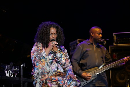 Dianne Reeves performs on the stage during an Seoul Jazz Festival 2017 at the Olympic Park in Seoul, South Korea.