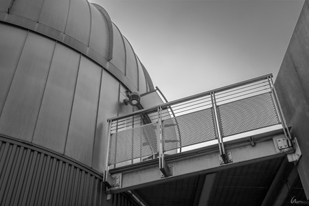 Observatory in Black and White Stok Fotoğraf
