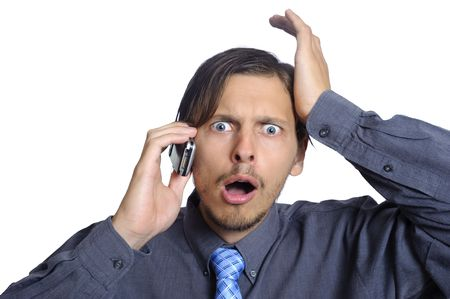 Man just lost his job over the phone photo