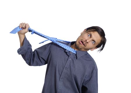 Frustrated worker wants to hang himself photo
