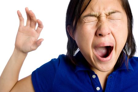 Asian girl is tired Stock Photo - 6541481