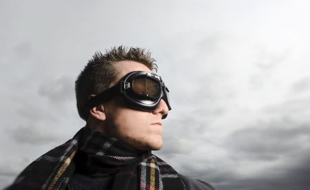Male model poses as a pilot Stock Photo - 6541469