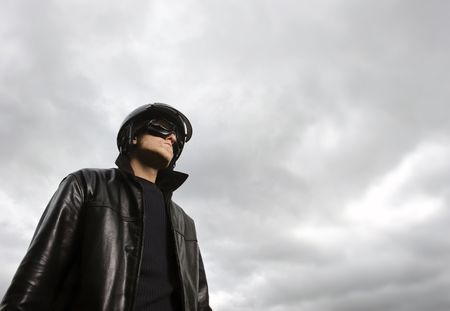 Male model poses as a pilot Stock Photo - 6541408