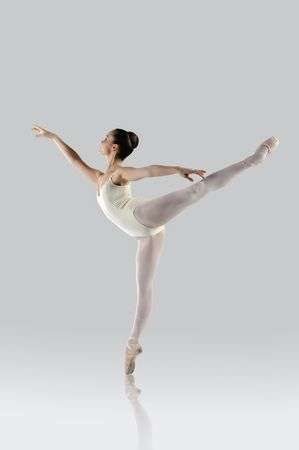 dancers: Professional female ballet dancer isolated in studio