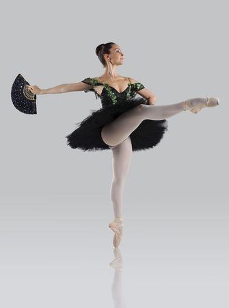 danza clasica: Profesional femenino bailar�n aislado en estudio