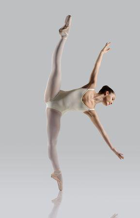 Professional female ballet dancer isolated in studio Stock Photo - 6633796