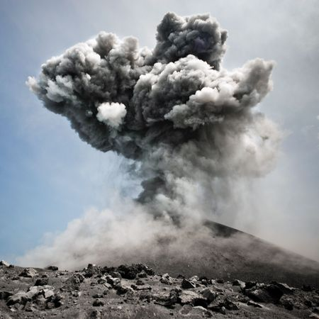 Volcanic eruption in all its dangerous beauty Stock Photo - 6666126