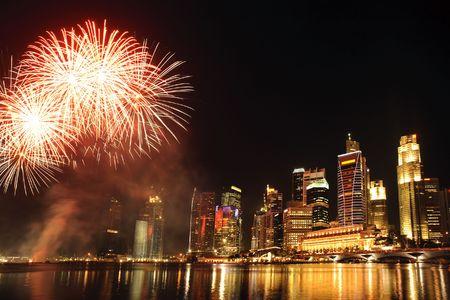 동남아시아 도시 싱가포르의 파티 타임 스톡 콘텐츠